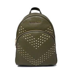 Michael Kors Green Abbey Backpack